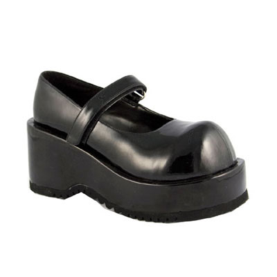 Dolly-01 zwart lak - lage schoen, mary j