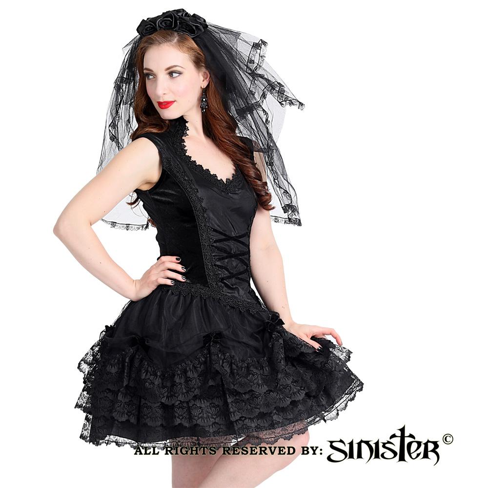 Valerie fluwelen mini jurk met kant en s