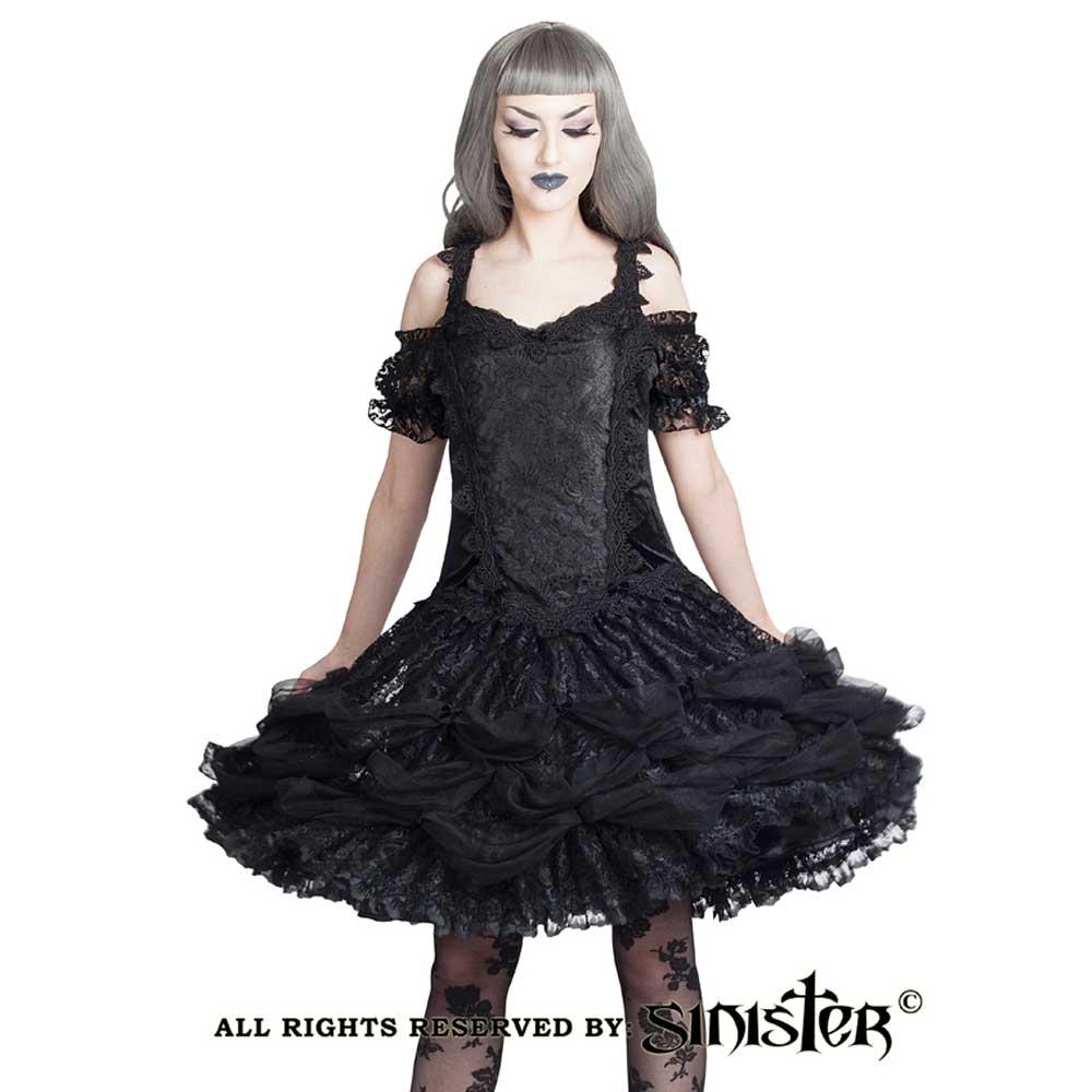 Fidelia lolita off shoulder mini jurk me