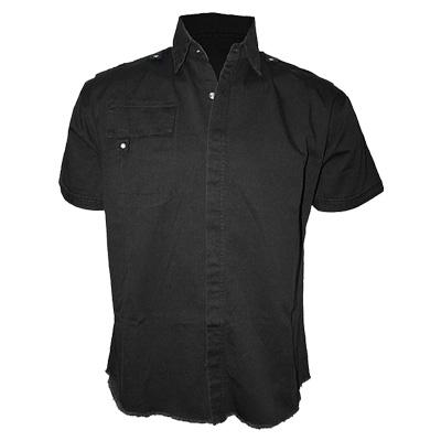 Short sleeve workshirt black - Spiral