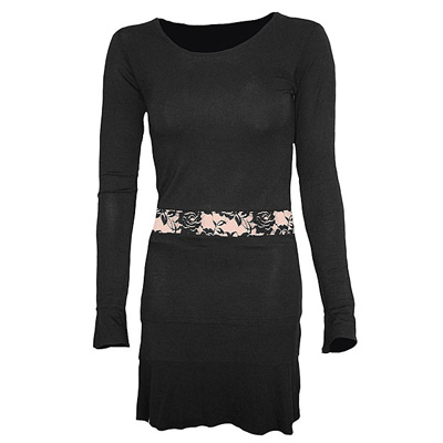 Lace dress black womens - Spiral