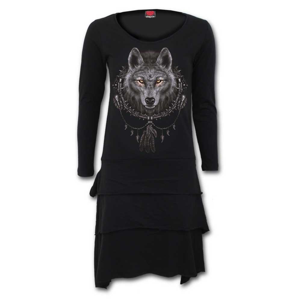 Wolf Dreams, gothic metal fantasy jurk m