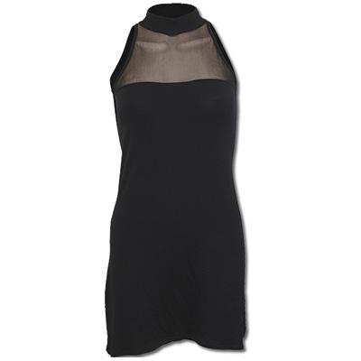 Halterneck dress black