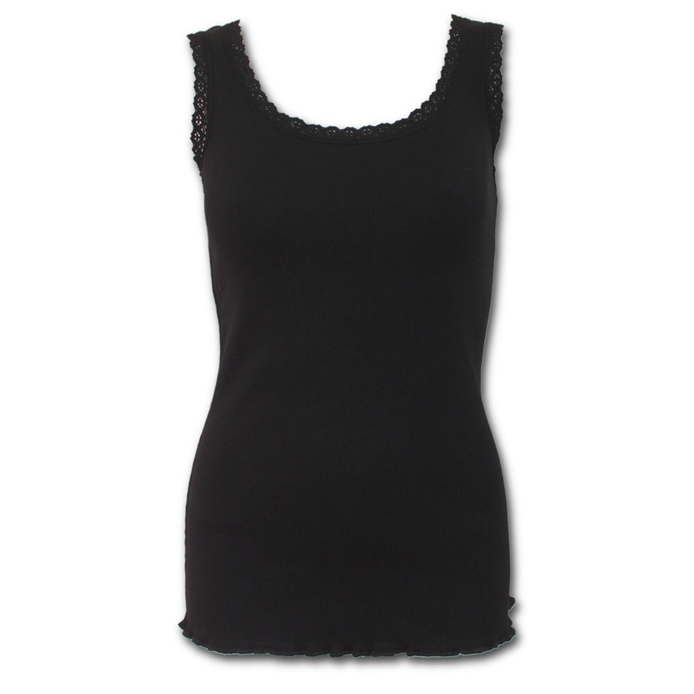 Urban Fashion, basic dames top met kante