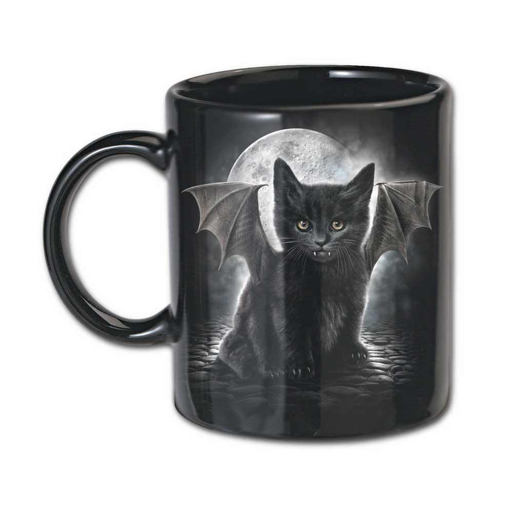 Cat's Tears, ceramic mugs black - set of