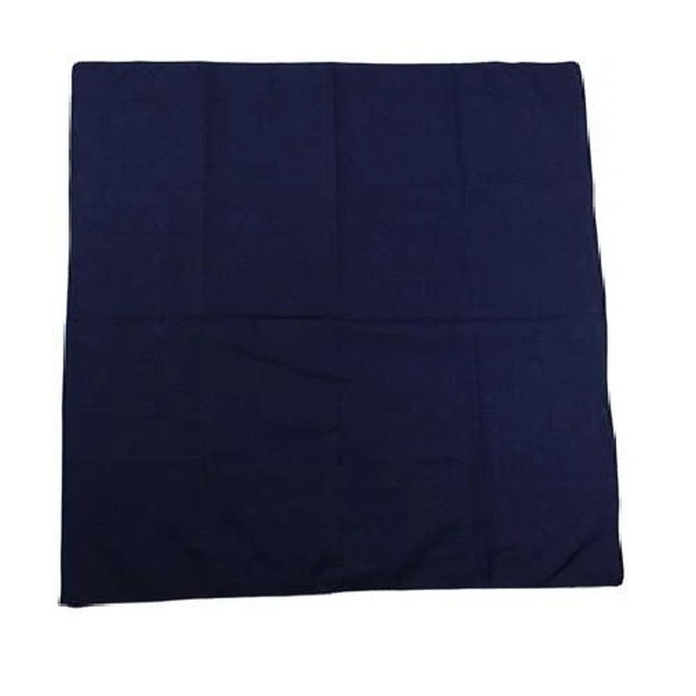 Bandana effen marine blauw - Vintage Pun