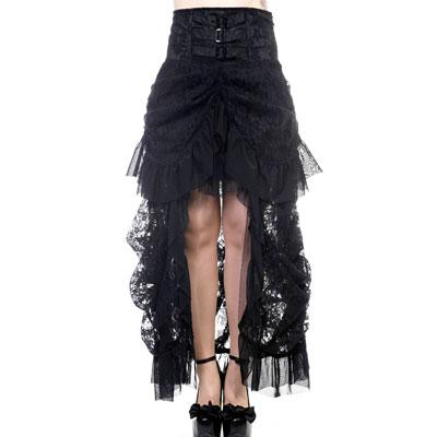 Victoriaanse kanten rok zwart - Gothic