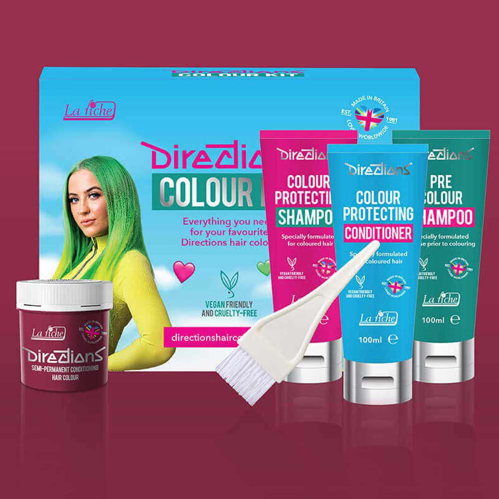 Rose red hairdye colour kit - Directions