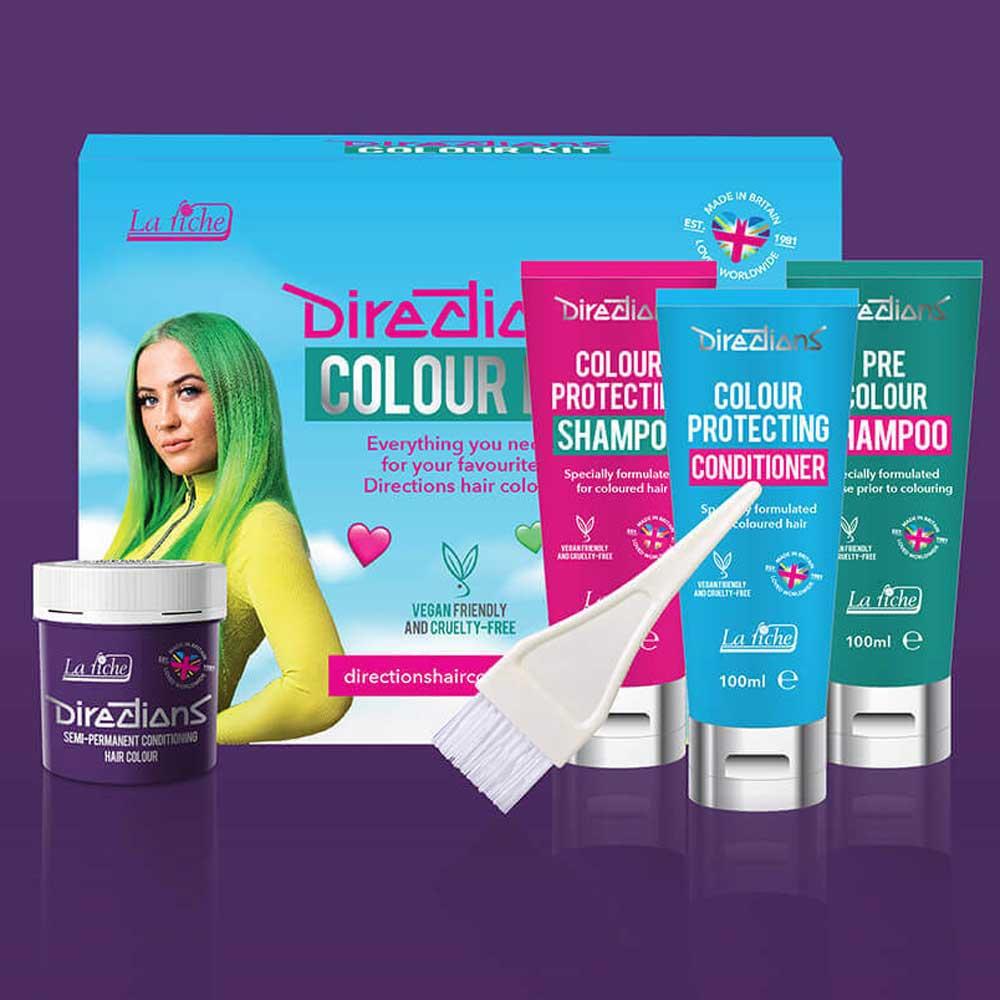 Violet hairdye colour kit - Directions