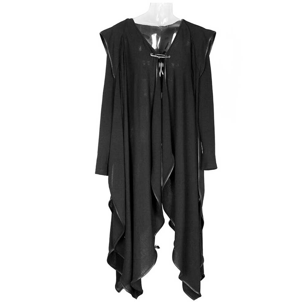 Witchery long cape with hood black - One